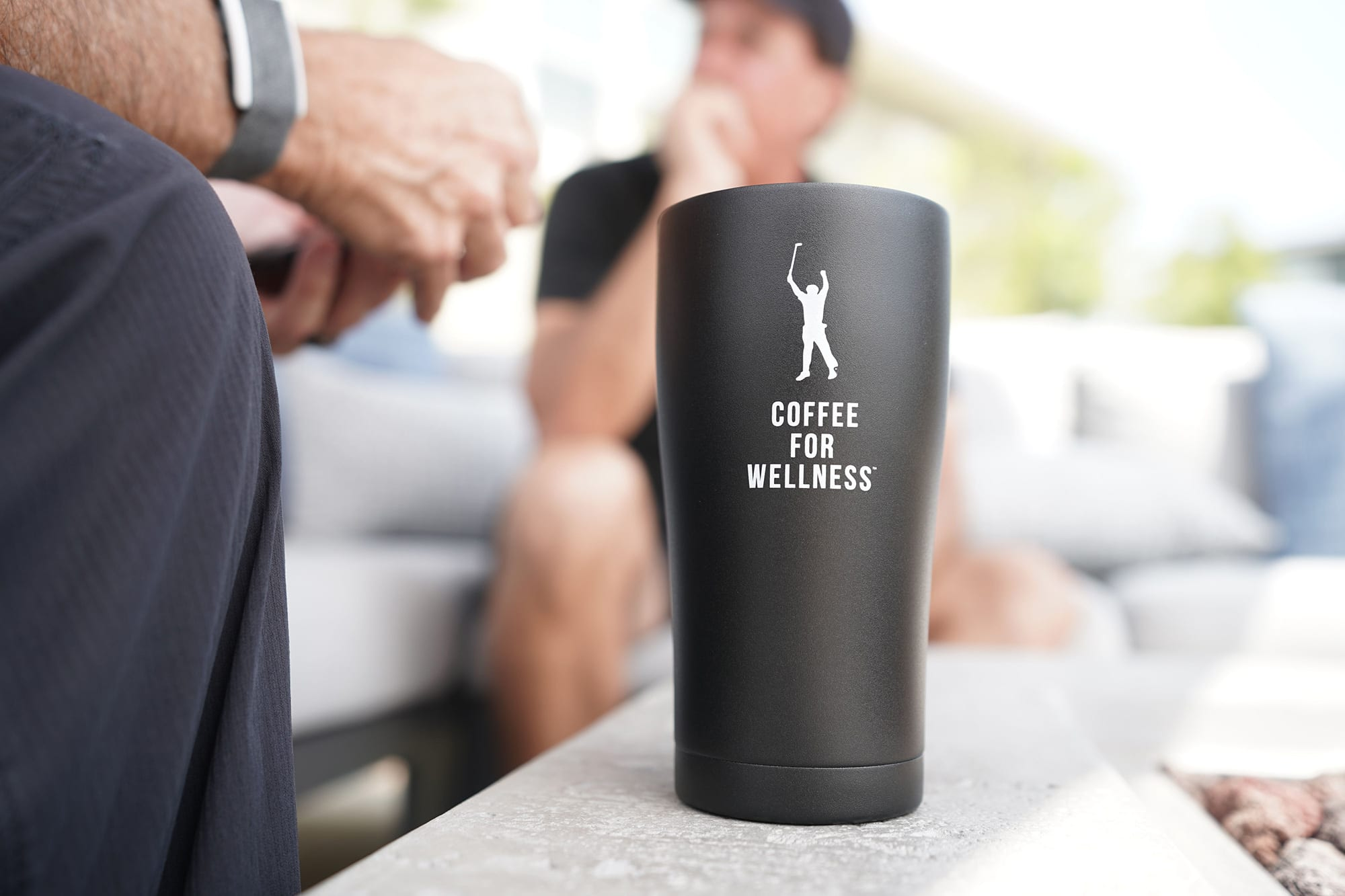 Coffee for Wellness black Phil Mickelson coffee mug