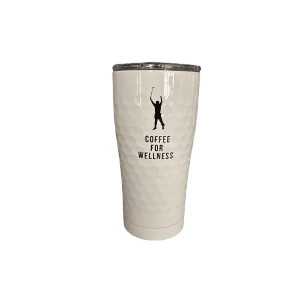Coffee For Wellness white tumbler